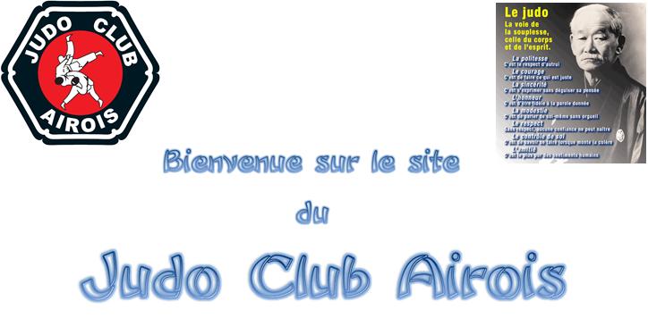 En-tête page d'accueil site judo