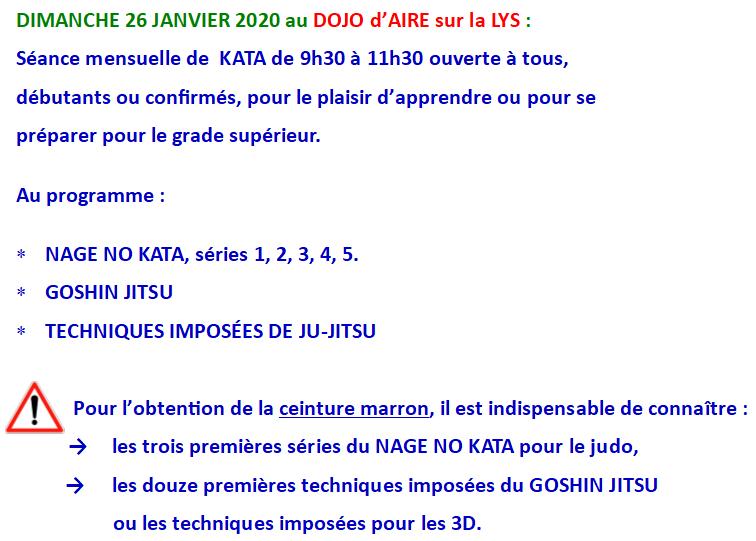 Séance KATA 26 01 2020