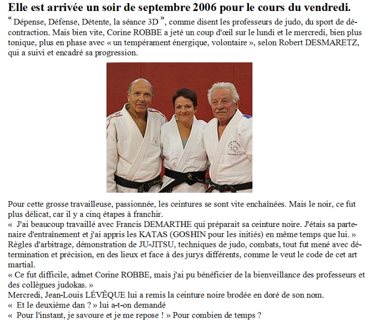 Article CEINTURE NOIRE de Corine