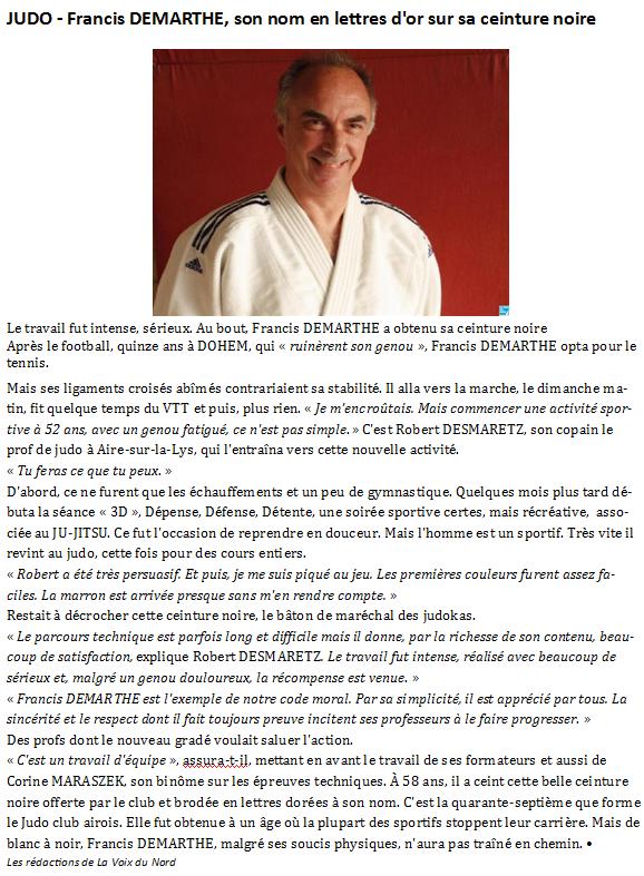Article CEINTURE NOIRE de Francis