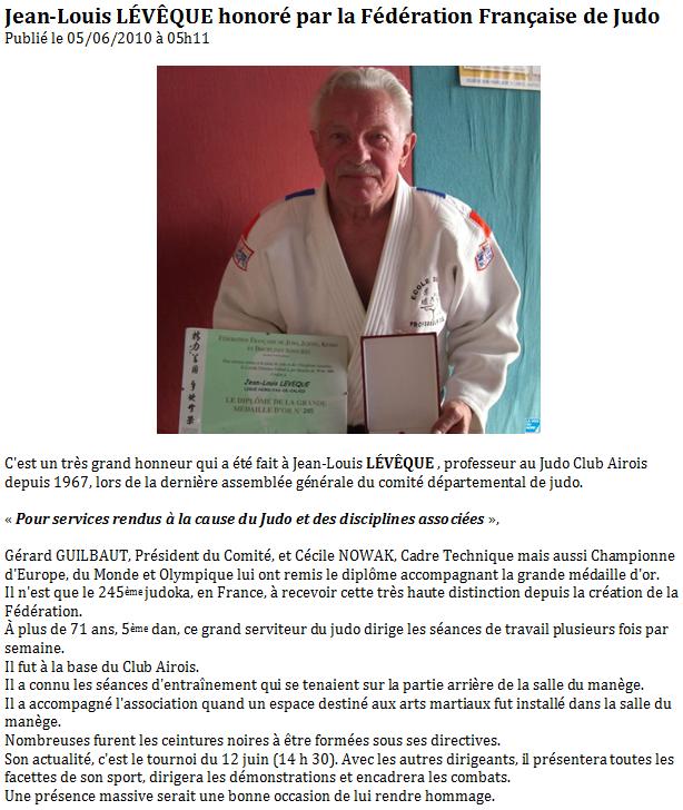 Article Médaille de Jean-Louis