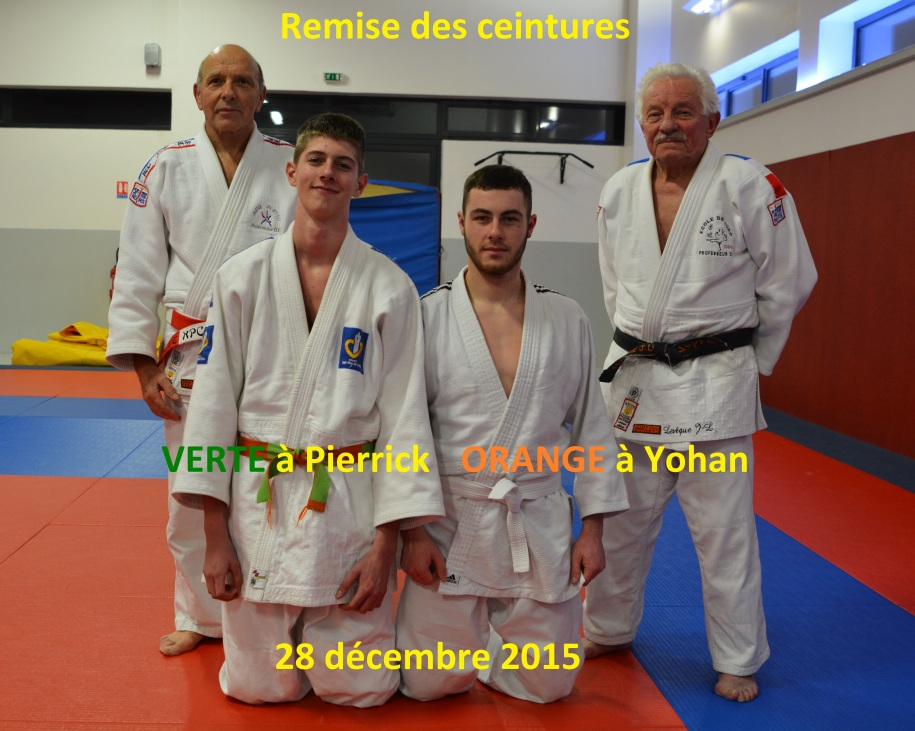 Ceinture verte Pierrick orange Yohan