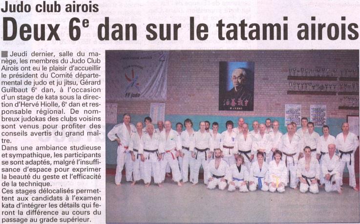 Deux 6èmes dan sur le tatami 18 Mars 2010
