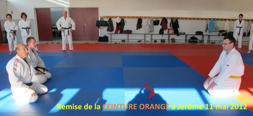 Remise CEINTURE ORANGE à Jérôme 11 mai 2012